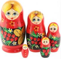 MS0502RyabinkaМатрешка 5 мест сувенирка Рябинка
